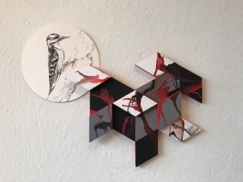 Flat representational drawing vs abstract sculpture